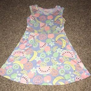 Wonder Nation Colorful Fruit Sleeveless Dress